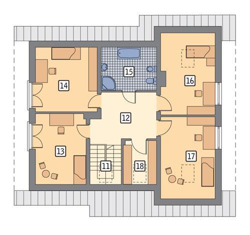Rzut poddasza POW. 93,8 m²
