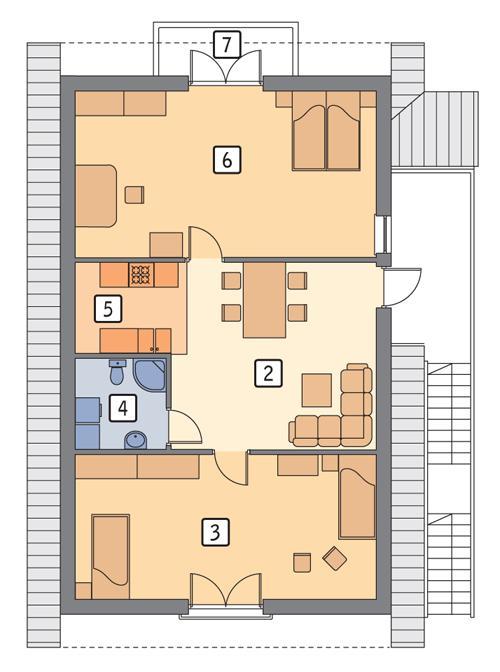 Rzut poddasza POW. 89,4 m²