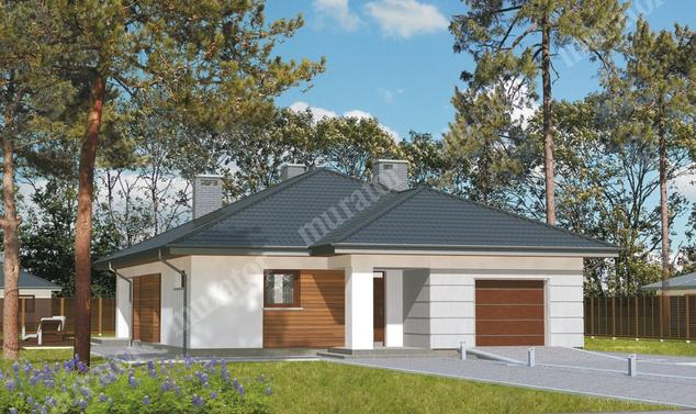 Projekt domu:  Murator M106   – Słoneczna polana